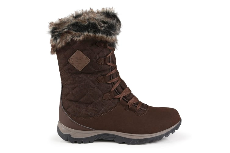 Regatta Great Outdoors Womens/Ladies Newley Faux Fur Trim Thermo Boots (Chestnut) (5 UK)