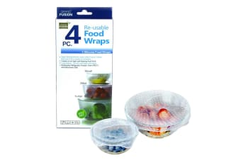 4pcs Silicone Food Wraps Reusable Food Bowl Covers Wrap Seal