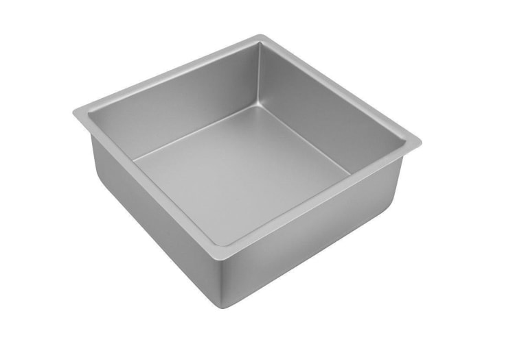Bakemaster Silver Anodised Square Deep Pan 25x10cm