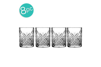 8pc Pasabahce Timeless 60ml Clear Shot Glass Whiskey Liquor Tequila Barware Set