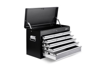 Giantz 9 Drawer Mechanic Tool Box Storage - Black and Grey