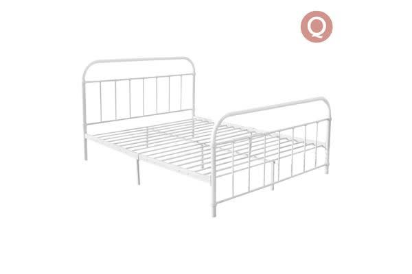 Queen Size Metal Bed Frame (White) - Kogan.com