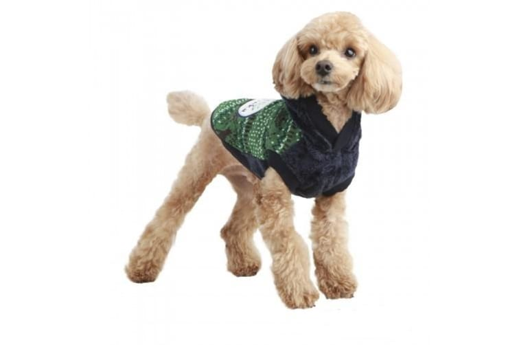 Pinkaholic Winter Park Winter Dog Top (Green) (XL)