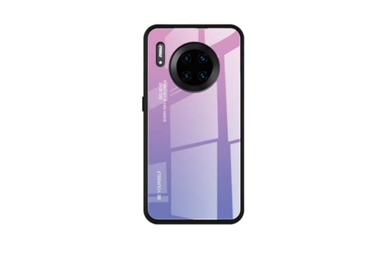 Select Mall Creative Gradient Color Glass Mobile Phone Case Mobile Phone Case Protective Cover for Huawei Mate 30-2 Huawei Mate 30