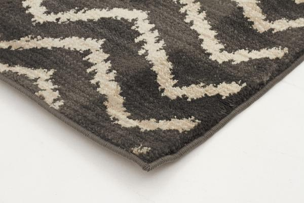 Morrocan Chevron Design Rug Grey 230x160cm