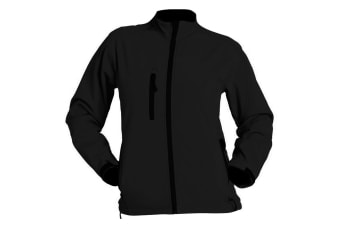 SOLS Womens/Ladies Roxy Soft Shell Jacket (Breathable  Windproof And Water Resistant) (Black) (S)