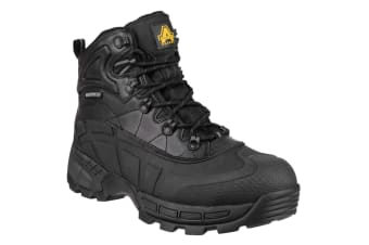 Amblers Mens FS430 Orca S3 Waterproof Leather Safety Boots (Black) (4 UK)