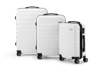 Orbis 3 Piece Capri Spinner Luggage Set (White)