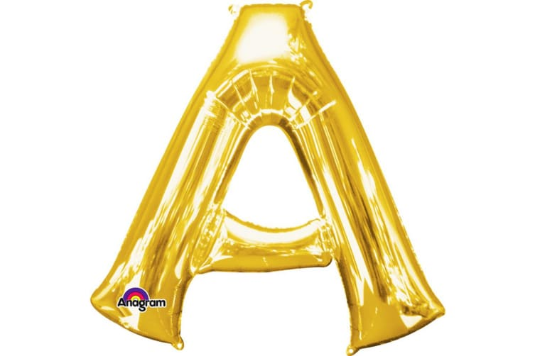 Anagram Mini Shape 16 Inch Gold Number/Letter Balloon (Gold) (C)
