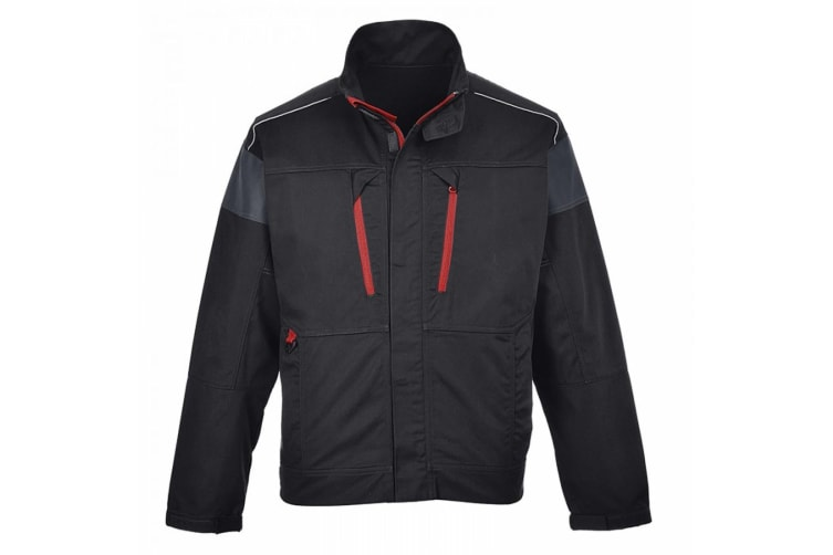 Portwest Mens Texo Work Jacket (Black/ Red) (S)