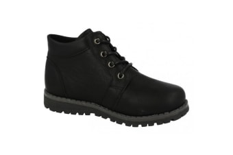 JCDees Boys Trendy Lace Up Ankle Boots (Black)