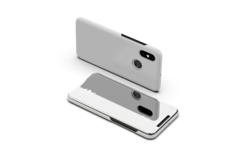 Mirror Case Translucent Flip Full Protection Mobile Phone Stand For Xiaomi Silver Xiaomi6X/A2