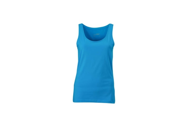 James and Nicholson Womens/Ladies Elastic Top (Turquoise) (L)