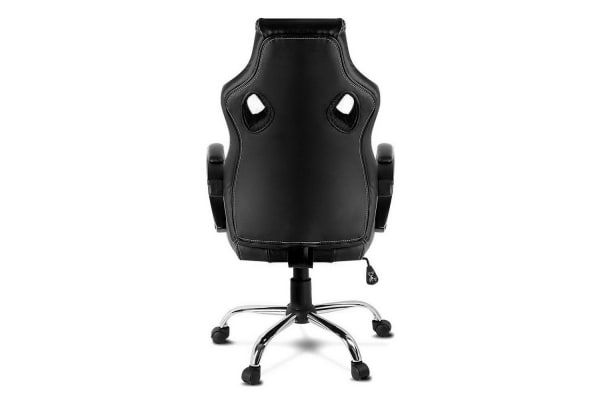 Racing Style PU Leather Office Chair (Black)