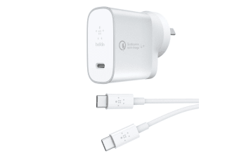 Belkin 27W Boost Home Wall Quick Charger w/USB-C to USB-C Charge/Sync 1.2M Cable