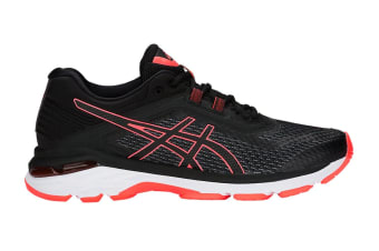 ASICS Women's GT-2000 6 Running Shoe (Black/Flash Coral)