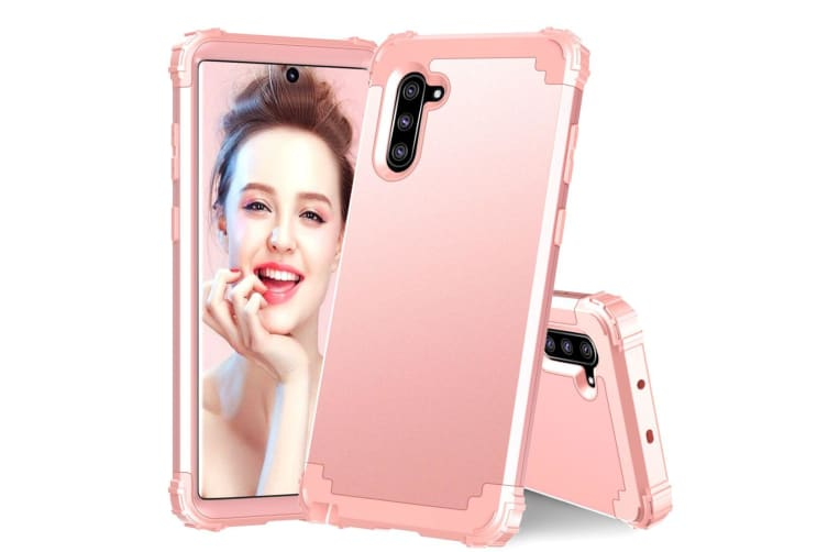 For Samsung Galaxy Note 10 Case  Protective Multi Layered Cover  Rose gold