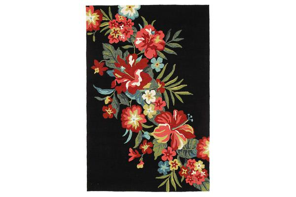 Kelsey Bouquet Black Indoor Outdoor Rug 320x230cm