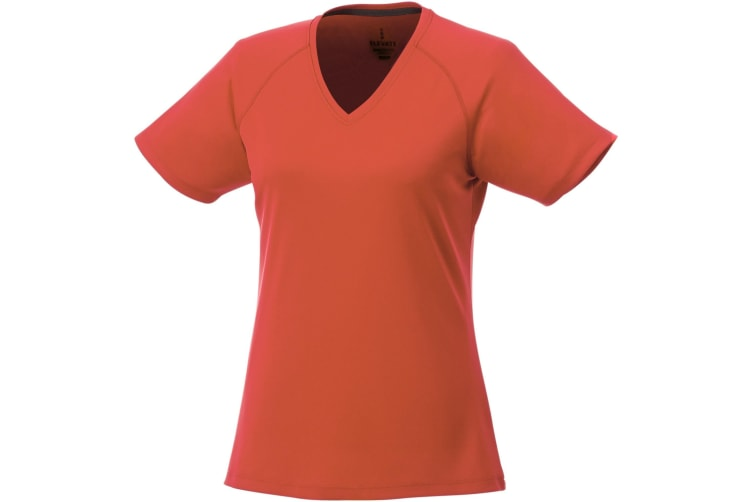 Elevate Womens/Ladies Amery Short Sleeve Cool Fit V-Neck T Shirt (Orange) (2XL)