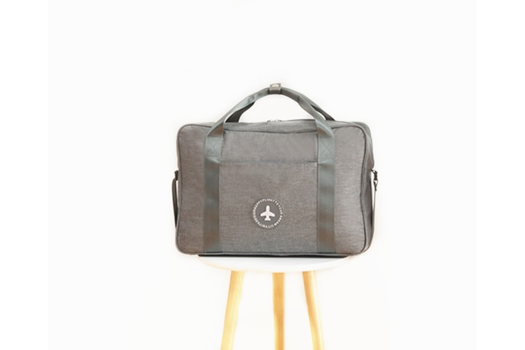 Travel Bag Thickening Portable Clothing Luggage Pull-Rod Bag - Grey Grey