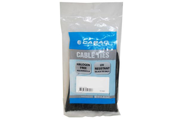 Cabac Nylon Cable Tie 200MM 100 Pack, 2.5MM UV Wide