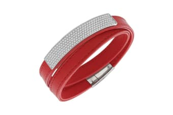 Swarovski Vio Red Leather Bracelet