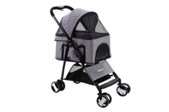 i.Pet Pet Stroller Dog Cat Cage Carrier Travel Pushchair Foldable 3 IN 1 Seat