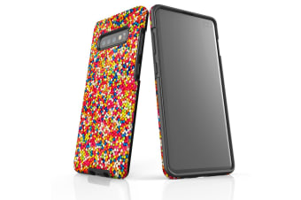 For Samsung Galaxy S10+ Plus Case  Armour Tough Cover  Coloured Granules