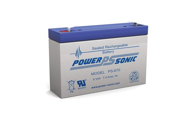 Power Sonic 6V 7Amp Sla Battery