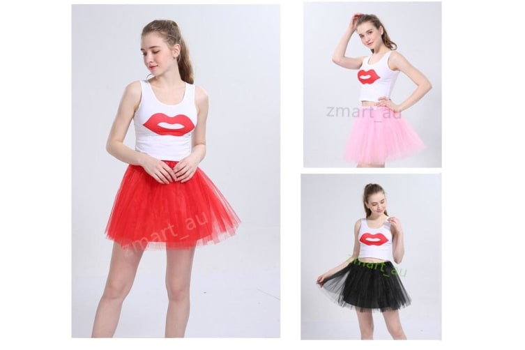 New Adults Tulle Tutu Skirt Dressup Party Costume Ballet Womens Girls Dance Wear - Light Purple