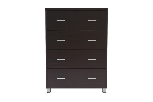 Ovela Chest of 4 Drawers - Oxford Collection (Dark Brown)