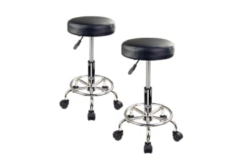 Round Salon Stool - BLACK X2