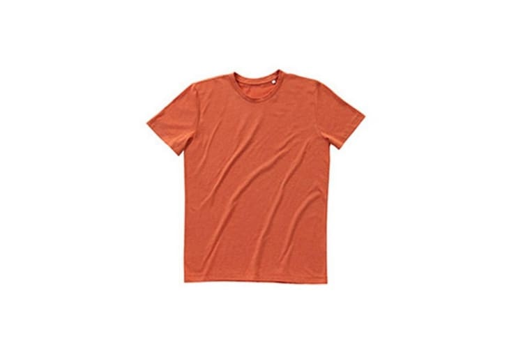 Stedman Mens Luke Melange Crew Neck T-Shirt (Pumpkin Heather) (L)