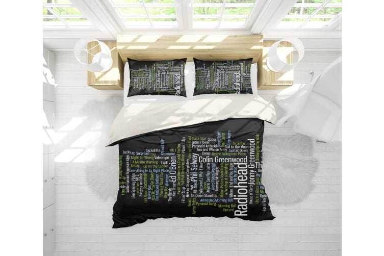 3D Band Radiohead Quilt Cover Set Bedding Set Pillowcases 68-Single