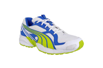 Puma Axis Mesh V2 Lace Up Boys Trainers (Lime/Blue)