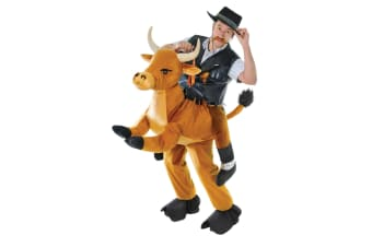 Bristol Novelty Unisex Adults Step In Bull Costume (Brown)