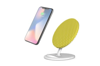 QI Wireless Charger For iPhone 11 Samsung Galaxy S20+ S20 Ultra S10+ Yellow Dots
