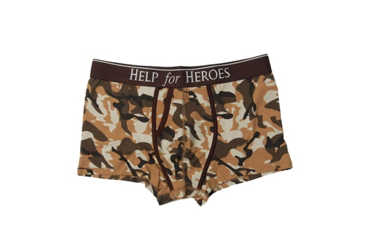 Help For Heroes Mens Camoflague Underwear (Desert Camo) (39-41 inches)