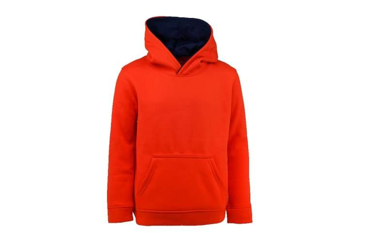 Champion Boys' Solid Performance Pullover Hoodie (Carrot, Size L)