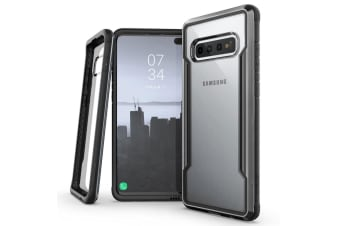 X-Doria Defense Shield Clear Case Cover Protect f/ Samsung Galaxy S10+ Plus BLK