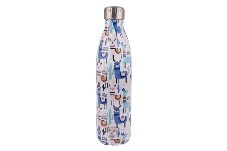 Oasis 750ml Double Wall Insulated Drink Water Bottle Vacuum Flask Llamas