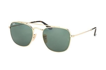 Ray-Ban RB3557 - Gold Crystal (Crystal Grey Green lens) / 51--20--140 Unisex Sunglasses
