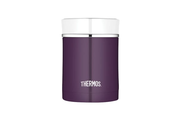 Thermos 470 ml Sipp Stainless Steel Vacuum Insulated Food Jar (Plum)