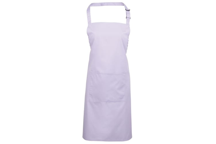 Premier Ladies/Womens Colours Bip Apron With Pocket / Workwear (Pack of 2) (Lilac) (One Size)