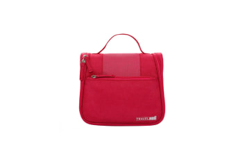 Pure Hand-Held Washing And Washing Bag Cosmetics Receiving Bag - Rose Red Red