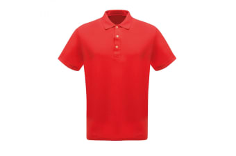Regatta Professional Mens Classic 65/35 Short Sleeve Polo Shirt (Classic Red) (S)