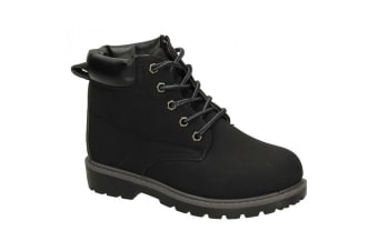 JCDees Boys Padded Collar Ankle Boots (Black)