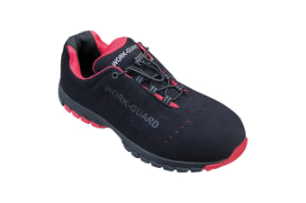 Result Workguard Mens Shield Safety Trainers (Black/Red) (6 UK)