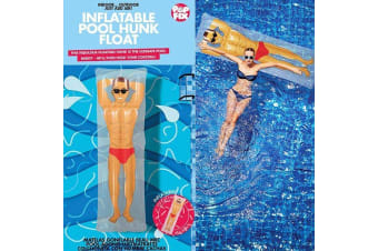 Inflatable Hunk Handsome Man Pool Float With Built-in Drink Holder!