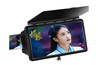 Telescopic Shading 12 inch Mobile Phone Screen HD Eye Protection Video Theater Support Office Home 3D Amplifier 15.5X24X6.3cm-BLACK